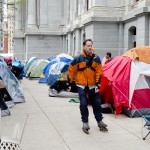 Tent encampment in Philadelphia (Photo by Ted Lieverman)