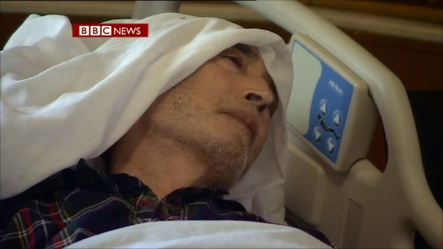 Ailing Abdelbaset al-Megrahi in September 2011, as he was dying from prostate cancer.