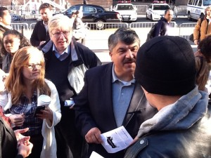 "AFL-CIO President Richard Trumka visiting ""Occupy Wall Street"""