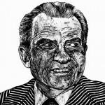President Richard Nixon (Art work by Robbie Conal)