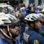 Police face down 'Occupy' protesters in Philadelphia (Photo by Ted Lieverman)