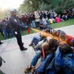 Police pepper-spray protesters at U.C. Davis