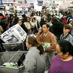 "A ""Black Friday"" scene from 2009"