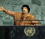 Libyan leader Muammar Gaddafi at United Nations