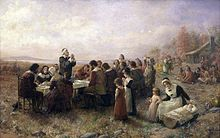 Original Thanksgiving as depicted by Jennie A. Brownscombe