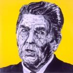 Ronald Reagan (as depicted by Robbie Conal, robbieconal.com)