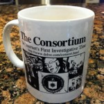 Mug commemorating the first issue of Consortiumnews.com, available in end-of-year auction (for details, see below)