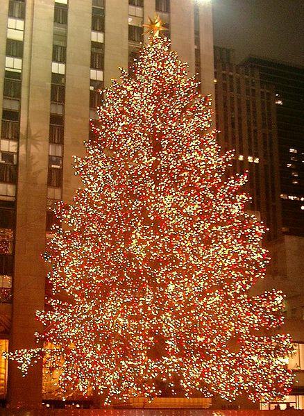 Christmas tree at Rockefeller Center in New York City