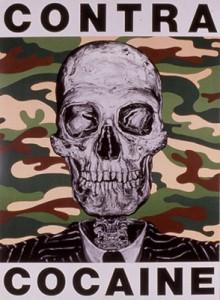 Contra-Cocaine Poster by Robbie Conal (robbieconal.com)