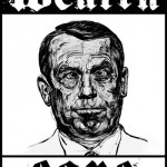 House Speaker John Boehner in poster by Robbie Conal (robbieconal.com)