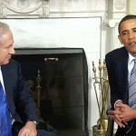 Israeli Prime Minister Benjamin Netanyahu meeting with President Barack Obama at the White House in 2009