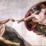Michelangelo's painting of the Creation of Adam