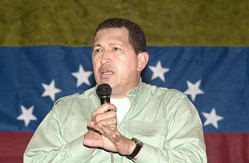 The late Venezuelan President Hugo Chavez.