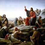 Jesus delivering the Sermon on the Mount (painting by Carl Bloch)