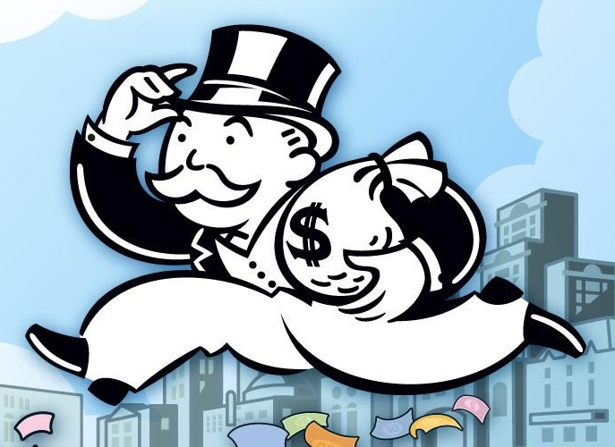 "Mr. Moneybags from the ""Monopoly"" game"
