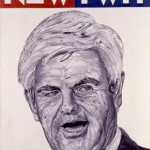 Poster of Newt Gingrich by Robbie Conal (robbieconal.com)