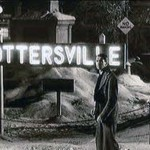 "Actor Jimmy Stewart finding himself in Pottersville in ""It's a Wonderful Life"""