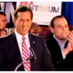 Former Sen. Rick Santorum with supporters