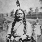 Sitting Bull, a Lakota Indian leader who led resistance to U.S. government policies against the Native American populations before being killed by Indian agency police in 1890.