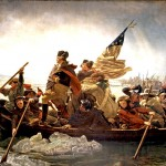 George Washington crossing the Delaware, in Emanuel Leutze's iconic (though historically inaccurate) painting