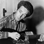 Folk singer Woody Guthrie