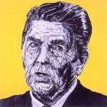 President Ronald Reagan (Drawing by Robbie Conal, robbieconal.com)