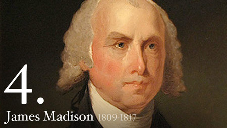 James Madison, a principal author of the U.S. Constitution and Bill of Rights -- and fourth president of the United States