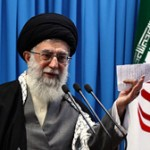 Iran's Supreme Leader Khamenei responding to Western threats on Feb. 3, 2012