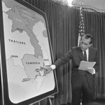 President Richard Nixon addresses the nation about his bombing of Cambodia, April 30, 1969