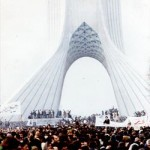 A scene from the Iranian revolution in 1979