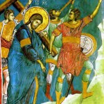 Image of Jesus bearing his cross, from a 14th Century fresco at the Visoki Dečani monastery in Kosovo.