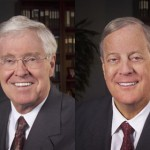 Billionaires Charles and David Koch, who helped found the libertarian Cato Institute
