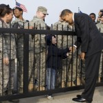 President Obama greeting troops and family members in Florida in 2009. (White House photo by Pete Souza)