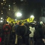 "Scene from Saturday's rally to reoccupy ""Liberty Square."" (Photo credit: occupywallst.org)"