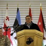 Defense Secretary Leon Panetta addressing troops in Afghanistan on March 14. (Photo credit: Defense Department)