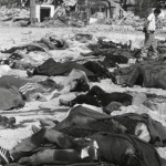 Bodies of Palestinian refugees at the Sabra camp in Lebanon, 1982. (Photo credit: U.N. Relief and Works Agency for Palestine Refugees)