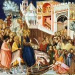 A 14th Century depiction of Jesus's entry into Jerusalem by Pietro Lorenzetti