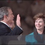 George W. Bush taking the presidential oath of office on Jan. 20, 2001. (White House photo)