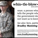 Poster in support of Pvt. Bradley Manning, posted in Washington D.C.'s Metro system.