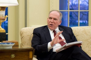 IA Director John Brennan at a White House meeting during his time as President Barack Obama's counterterrorism adviser, From Images