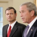 John Roberts at the Sept. 5, 2005, announcement at which President George W. Bush nominated Roberts to be Chief Justice of the U.S. Supreme Court. (White House photo by Paul Morse)