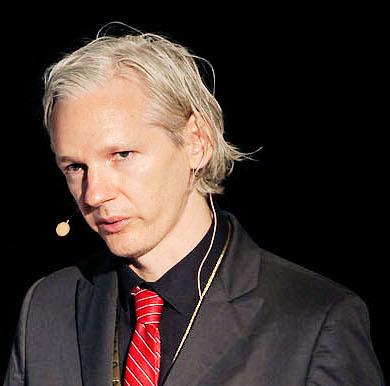 WikiLeaks founder Julian Assange at a media conference in Copenhagen, Denmark. (Photo credit: New Media Days / Peter Erichsen)