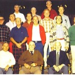 Group photo of Bohemian Grove members and guests at the Parsonage camp on the last weekend of July 1980. Note that William Casey is not in the photo.
