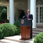 "President Barack Obama announces his new policy against deportation of ""dreamers"" on June 15, 2012. (White House photo)"