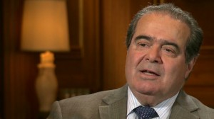 U.S. Supreme Court Justice Antonin Scalia on CNN, July 18, 2012. (Photo credit: CNN.com)