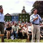 Rep. Paul Ryan, with Republican presidential candidate Mitt Romney, speaking to a crowd in New Hampshire. (Photo credit: mittromney.com)