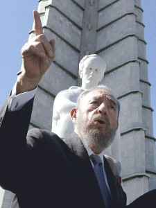 Cuban leader Fidel Castro speaking at the Jose Marti Monument in 2003. (Photo credit: Ricardo Stuckert/ABr.)