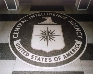 The CIA seal in the lobby of CIA headquarters in Langley, Virginia.