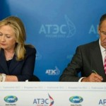 U.S. Secretary of State Hillary Clinton and Russian Foreign Minister Sergey Lavrov.  (Photo credit: Department of State)