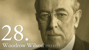 President Woodrow Wilson, the 28th President of the United States